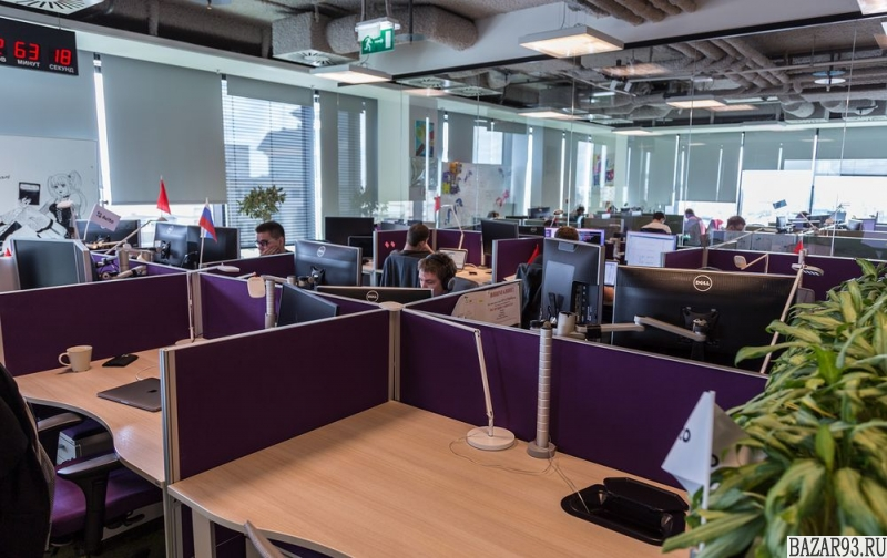 Работа офисного характера.  Центр города