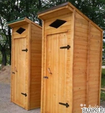 Туалет деревянный дачный